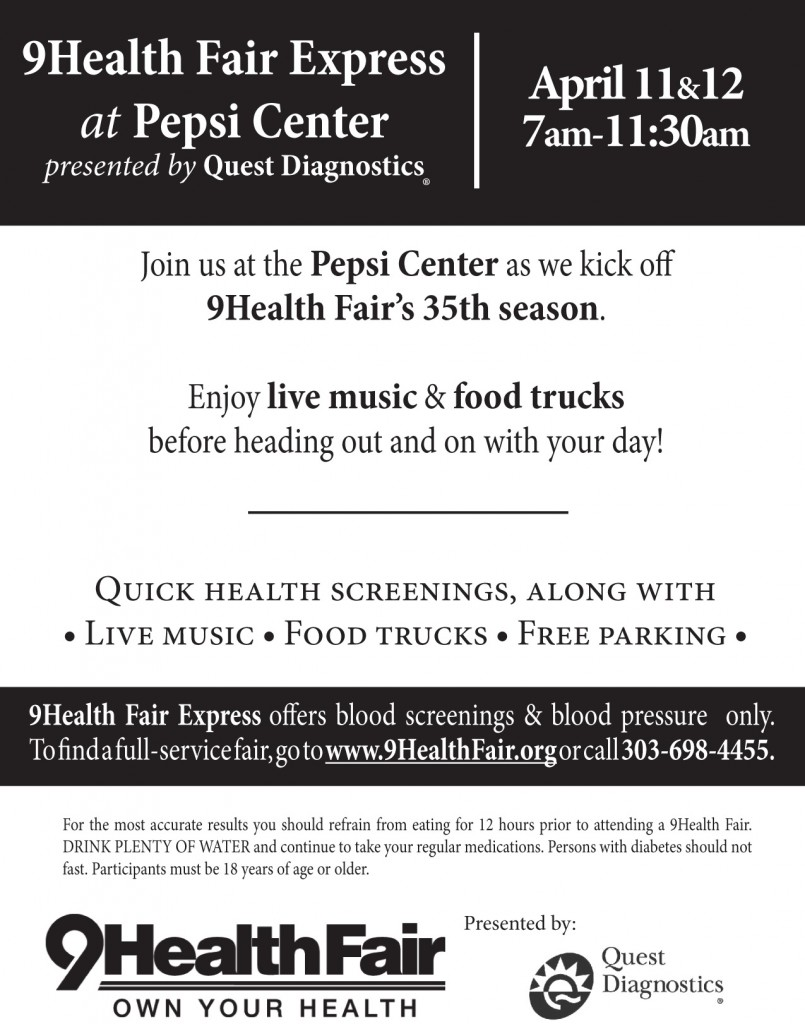 Pepsi Center exit flyer